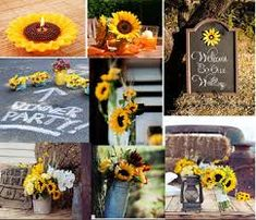 risultati immagini per sunflower wedding decorating ideas
