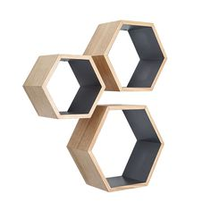 These ash wood Nesting Hexagon Shelves are the ultimate stylish yet functional addition to your living space. They offer a surprising amount of space to display your favorite decorative items. Showcasi... Find the Ash Wood Nesting Hexagon Shelves - Set of 3, as seen in the Labor Day Sale: Furniture Collection at http://dotandbo.com/collections/labor-day-sale-furniture?utm_source=pinterest&utm_medium=organic&db_sku=HX0001-GRY