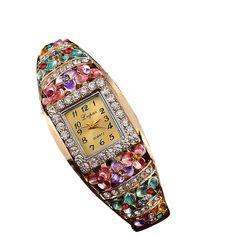 Hot Fashion Women Bracelet Watch Lady Girls Relojes Mujer 2017 LVPAI Brand Design Quartz Analog Watches Diamond Dress Watches #Z