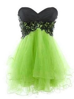 Processing time: 15 business days Shipping Time: 7-10 business days  Silhouette: Ball gown Occasion: Prom, homecoming Fabric: Tulle Shown Color: grass green Neckline: Sweetheart Waistline: Natural Sleeve length: Sleeveless Hemline / train: Mini Embellishment: Lace