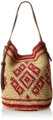 Lucky Brand Sierra Hobo Shoulder Bag,Sand/Cayenne