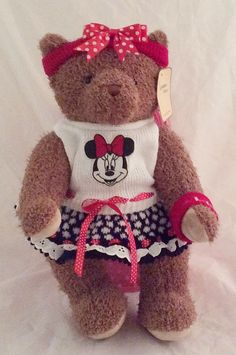 Minnie mouse dressed bear