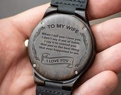 Watch For Men - Great Gift For Son Engraving Wooden Watch - Perfect Gifts For Your Son, Love Mom, Husband Watch - Perfect Gifts For Husband - by HeavenKP on Zibbet. Great Gifts For Wife, Thoughtful Gifts For Him, Gifts For Fiance, Birthday Gift For Him, Gifts For Your Boyfriend, Love Gifts, Gifts For Family, Best Gifts, Diy Gifts