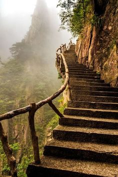 Mountain Stairway, China photo by artem