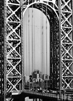 George Washington Bridge, by Margaret Bourke White 1933