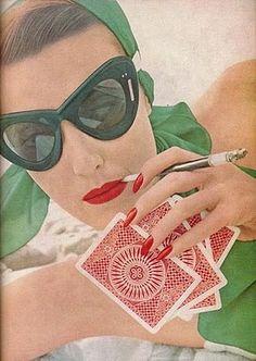 Bandana + Eyecat Glasses + Red Lips