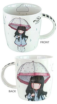 Gorjuss - Puddles of Love Small Mug  This Gorjuss™ New Bone China Mug will make your cup of tea all the more wonderful. The artwork features the a beautiful Gorjuss design on the front, with an endearing close-up of the Gorjuss girl on the reverse. Comes gift boxed. www.thegoodlifestore.com