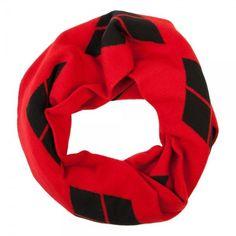 57395a215c5 DC Comics Harley Quinn Infinity Knit Scarf Red Black Diamonds Warm Winter  Batman  Bioworld
