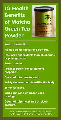 Beneficios del te matcha
