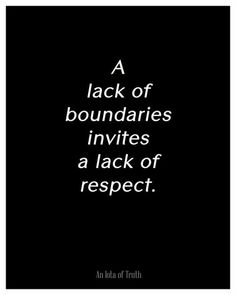 Lack of Boundaries