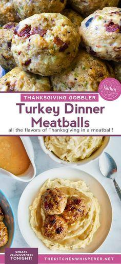 Thanksgiving Gobbler Turkey Dinner Meatballs
