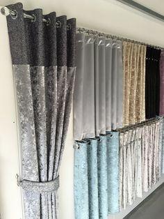 luxury glitter top eyelet curtain / curtains range crushed velvet | The Glitter Furniture Company®