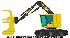 2014 Tigercat 822C Tree Feller Buncher by mcspyder1.deviantart.com on @DeviantArt