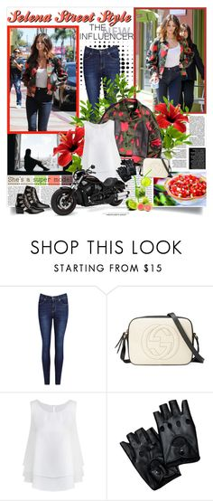"""""""Selena Gomez"""" by reka97 ❤ liked on Polyvore featuring Disney, Gucci, Harley-Davidson and Toga"""