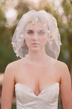 short wedding veil