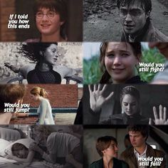 Harry Potter , The Hunger Games, Divergent , The Fault In Our Stars :'( :'( this is so sad