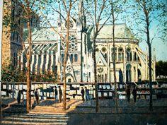 Notre-Dame-de-Paris et les bouquinistes par Albert Marquet (1875 - 1947)