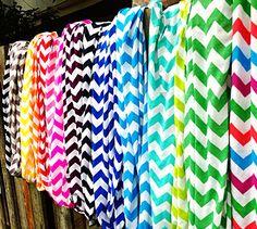 Any 2 Chevron Infinity Scarves, Wholesale Bulk, Cotton/Rayon Blend, Zig Zag Scarf, Knit Jersey, Double Loop Cowl-neck