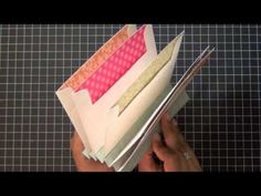 SAF 2012: Envelope Mini Book Tutorial rilegatura a fisarmonica con rifiniture super