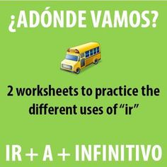 """$ These are two great introductory activities for using the verb """"ir."""""""