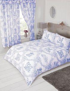 Vintage français amoureux scènes toile de jouy bleu marine tissu de coton matériau 3 tailles *