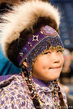 Competitor in the Native children's contest, World Eskimo Indian Olympics Fairbanks, Alaska Kids Around The World, We Are The World, People Around The World, Precious Children, Beautiful Children, Beautiful People, Native Child, Portraits, Folk Costume