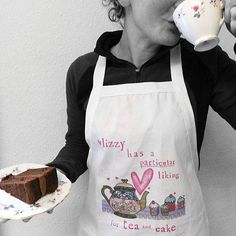 Personalised tea and cake apron