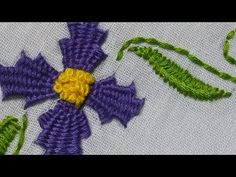 Learn Hand Embroidery Stitches | Bullion Stitch | HandiWorks #30 - YouTube