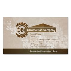 Home construction business card. I love this design! It is available for customization or ready to buy as is. All you need is to add your business info to this template then place the order. It will ship within 24 hours. Just click the image to make your own!