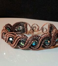 Double Twisted Wire Weave Bracelet with by MaxxBelleCreations