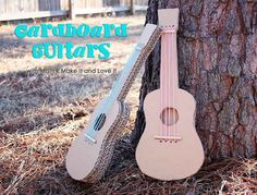 Guitars.   31 Things You Can Make With A Cardboard Box That Will Blow Your Kids' Minds