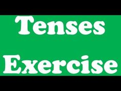 Tenses Exercise for students English Grammar Online, Tenses Exercises, Students, Education, Youtube, Learning, Youtubers, Youtube Movies, Teaching