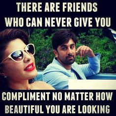 TAG Crazy Friend Quotes, Missing You Quotes, Crazy Friends, School Days Quotes, Movie Quotes, Funny Quotes, Besties, Bff, Bollywood Quotes