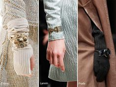 Fall/ Winter 2016-2017 Accessory, Jewelry Trends: Bracelets Over Sleeves & Gloves
