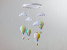 Hot Air Balloon Mobile Baby Crib Mobile Baby Mobiles Hanging