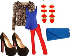 """""""Blue Red Cheetah"""" by gb12nv on Polyvore"""