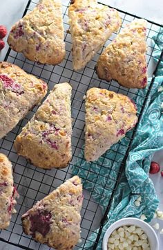 Moist, flaky, and bursting with flavour - these RASPBERRY WHITE CHOCOLATE SCONES are perfect breakfast or brunch! Best served with loved ones and plenty of coffee. #scones #breakfast #brunch White Chocolate Raspberry Scones, Perfect Breakfast, Cooking Recipes, Easy Recipes, Brunch, Easy Meals, Favorite Recipes, Baking, Bakken