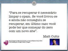 Esclarecimento de Matt Cutts sobre links de baixa qualidade que apontam para sites.