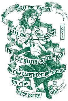 Artist: Bruno WolfText: Omnia - Call me Satan Pan Mythology, Pagan Gods, Pagan Men, God Tattoos, Satanic Art, Eclectic Witch, Greek Gods And Goddesses, Green Man, Ex Libris