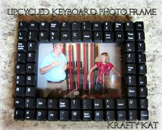 #DIY Keyboard Computer Frame // #Upcycle This! 7 Ways to Reuse an Old Computer