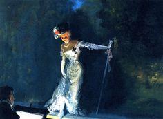 Everett Shinn - Revue, 1908, oil on canvas