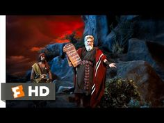 "The Ten Commandments Movie CLIP - Moses Presents the Ten Commandments. This is a powerful scene from the 1956 movie ""The Ten Commandments"" with Charlton Heston as Moses. We Movie, Movie Gifs, Abraham And Sarah, Ten Commandments, Religious Education, New Trailers, Period Dramas, Vintage Movies, Worship"