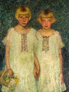 Helen Maria Turner (American painter) 1858 - 1958 aka Helen M. Turner The Sisters, 1924 oil on canvas 34 x 44 in.