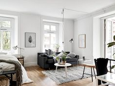 Cozy one room flat - via cocolapinedesign.com. Styled by Emma Fisher and photographed by Janne Olander, Stadshem