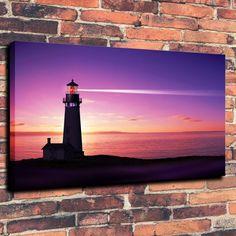Faros Mar Impresión paisaje pintura al óleo sobre lienzo decoración del hogar (Sin marco) | Arte, Arte de anticuarios y revendedores, Grabados | eBay!