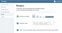 Instagram badges for websites, blogs, etc. | Social Media Examiner | #tips #tricks
