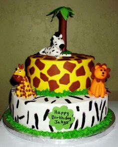 Animal Theme Babyshower Cake