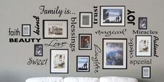 Family Is....Vinyl words collage!