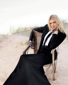 @ralphlauren A feminine look with masculine touches: a modern spin on suiting featured in @bazaaruk