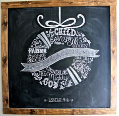 Amazing chalkboard art!  Christmas Chalkboard - The Lilypad Cottage